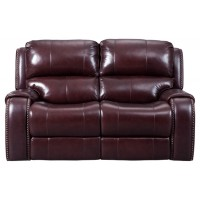 Gilmanton - Burgundy - PWR REC Loveseat/ADJ Headrest