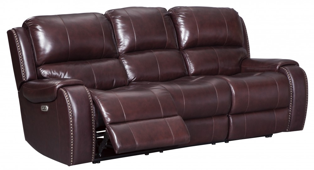 Gilmanton   Burgundy   PWR REC Sofa With ADJ Headrest