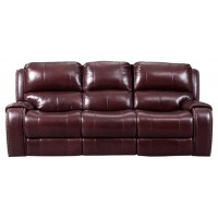 Gilmanton - Burgundy - PWR REC Sofa with ADJ Headrest