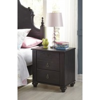 Corilyn - Dark Brown - Two Drawer Night Stand