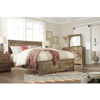 Blaneville - Brown - King Sleigh Headboard