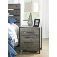 Cazenfeld - Black/Gray - Two Drawer Night Stand