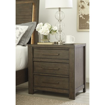 Camilone - Dark Gray - Three Drawer Night Stand