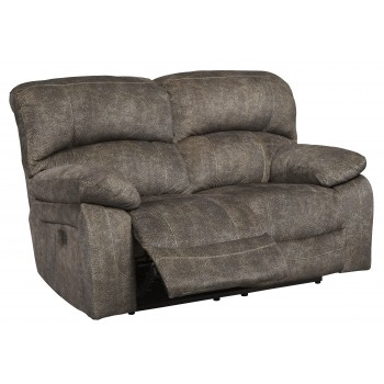 Cannelton - Tri-tone Gray - PWR REC Loveseat/ADJ Headrest