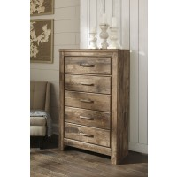 Blaneville - Brown - Five Drawer Chest