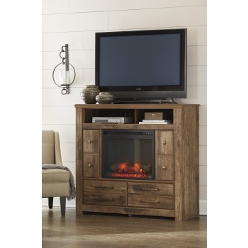 Blaneville - Brown - Media Chest w/Fireplace Option