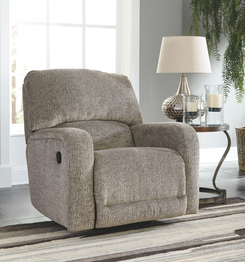 Pruitts Bedroom Furniture: Pittsfield - Fossil - Swivel Glider Recliner