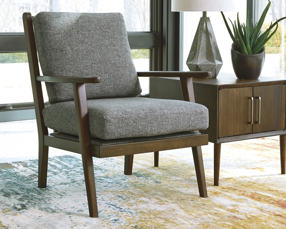 Accent Chairs.Zardoni Charcoal Accent Chair 1140260 Chairs Bargain