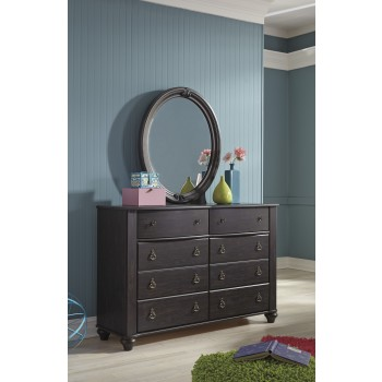 Corilyn - Dark Brown - Bedroom Mirror