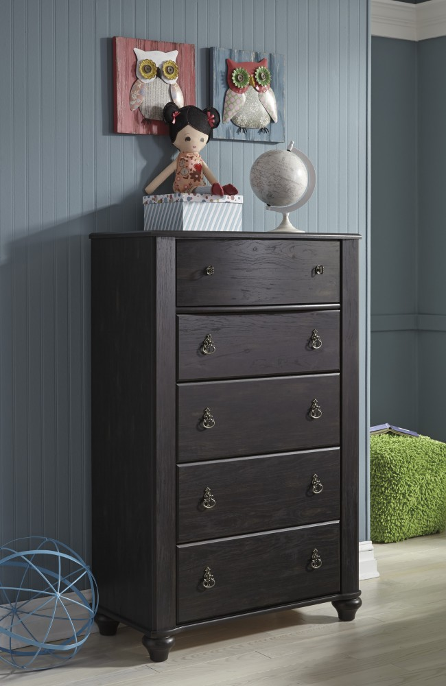 Corilyn - Dark Brown - Five Drawer Chest