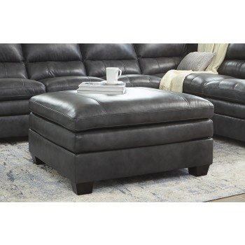 Gleason - Charcoal - Oversized Accent Ottoman