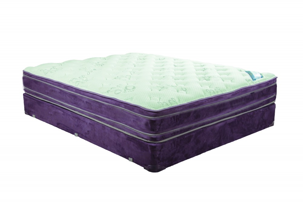 Saturn Double Euro Top Queen Mattress and Boxspring