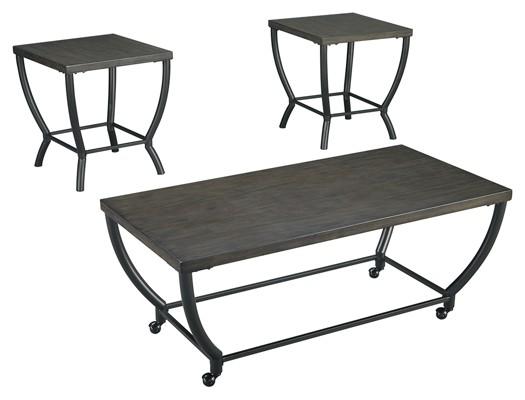 Champori - Grayish Brown - Occasional Table Set (3/CN)