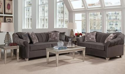 Piccolo Graphite 2pc Living Room Group 4400 Living Room Sets