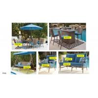 Partanna - Blue/Beige - Swing Seat Cushion