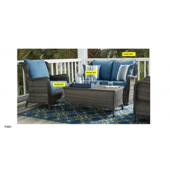 Abbots Court - Blue/Gray - Back Cushion