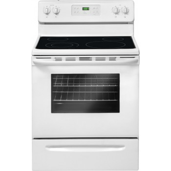 Crosley 5.3 Cubic Foot Smooth Top Range- Self Cleaning-White