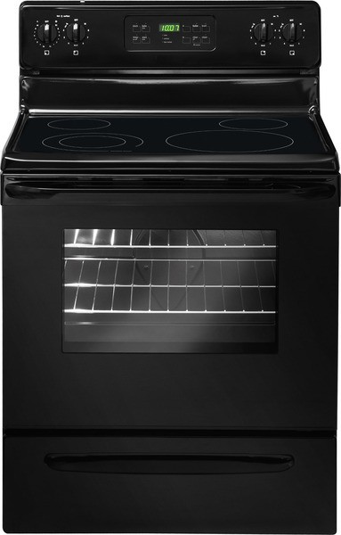 Crosley 5.3 Cubic Foot Smooth Top Range- Self Cleaning-Black