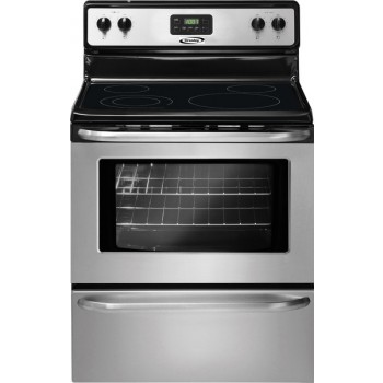 Crosley 5.3 Cubic Foot Smooth Top Range-Self Cleaning-Stainless