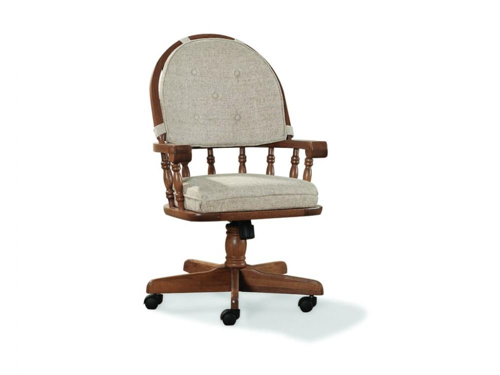 Intercon Classic Oak Caster Arm Chair Co Ch 2501 Cnt Su