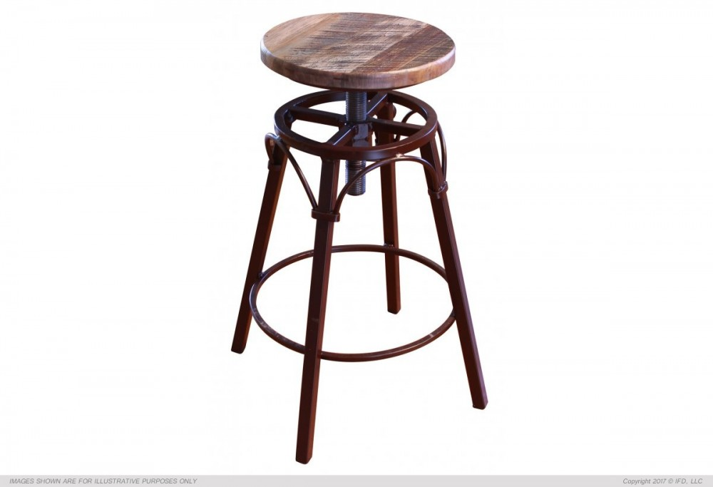 Ifd Antique Swivel Stool 968bs2430 Bar Stools I