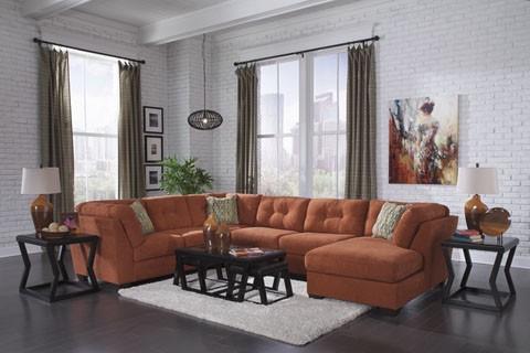 Fine Delta City Rust 3 Pc Chaise Sectional Beatyapartments Chair Design Images Beatyapartmentscom