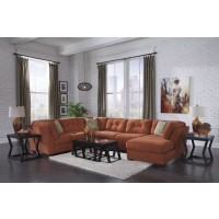 Delta City - Rust 3 Pc Chaise Sectional