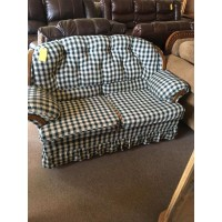 Plaid Loveseat