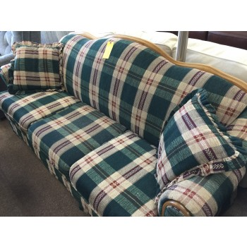 Green Plaid Sofa