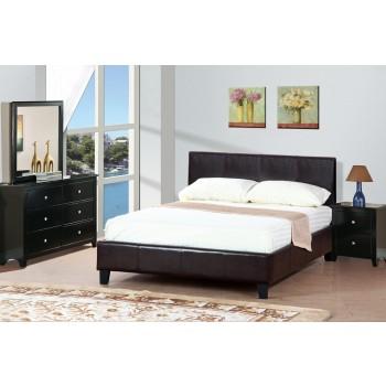Queen Dark Espresso Platform Bed