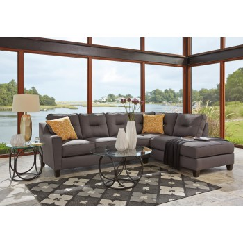 Kirwin Nuvella - Gray 2 Pc LAF Sectional