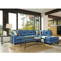 Kirwin Nuvella - Blue 2 Pc LAF Sectional