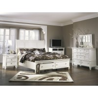 Prentice 5 Pc. Bedroom - Dresser, Mirror & Queen Sleigh Bed with Storage