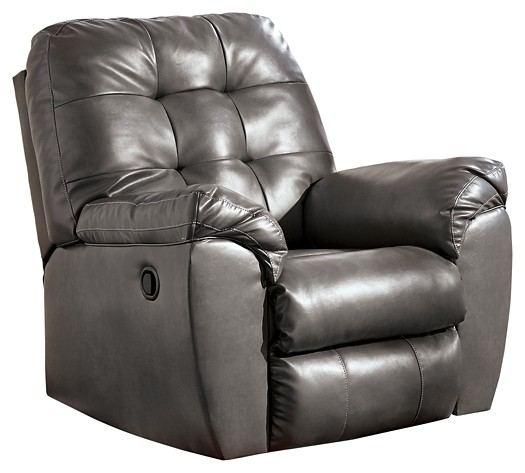 Awe Inspiring Alliston Durablend Gray Rocker Recliner Creativecarmelina Interior Chair Design Creativecarmelinacom