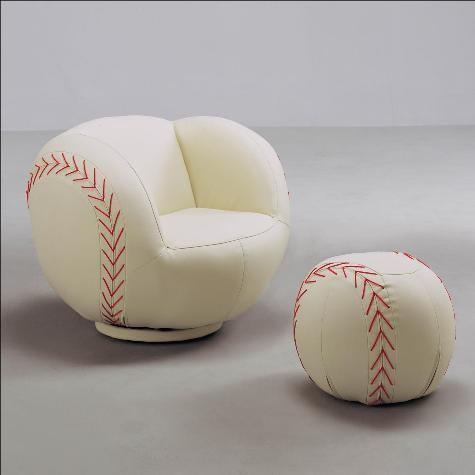 Crown Mark Baseball Chair U0026 Ottoman