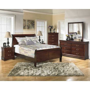 Alisdair 5 Pc. Bedroom Package -Queen Sleigh Bed, Dresser, Mirror, Chest & Nightstand