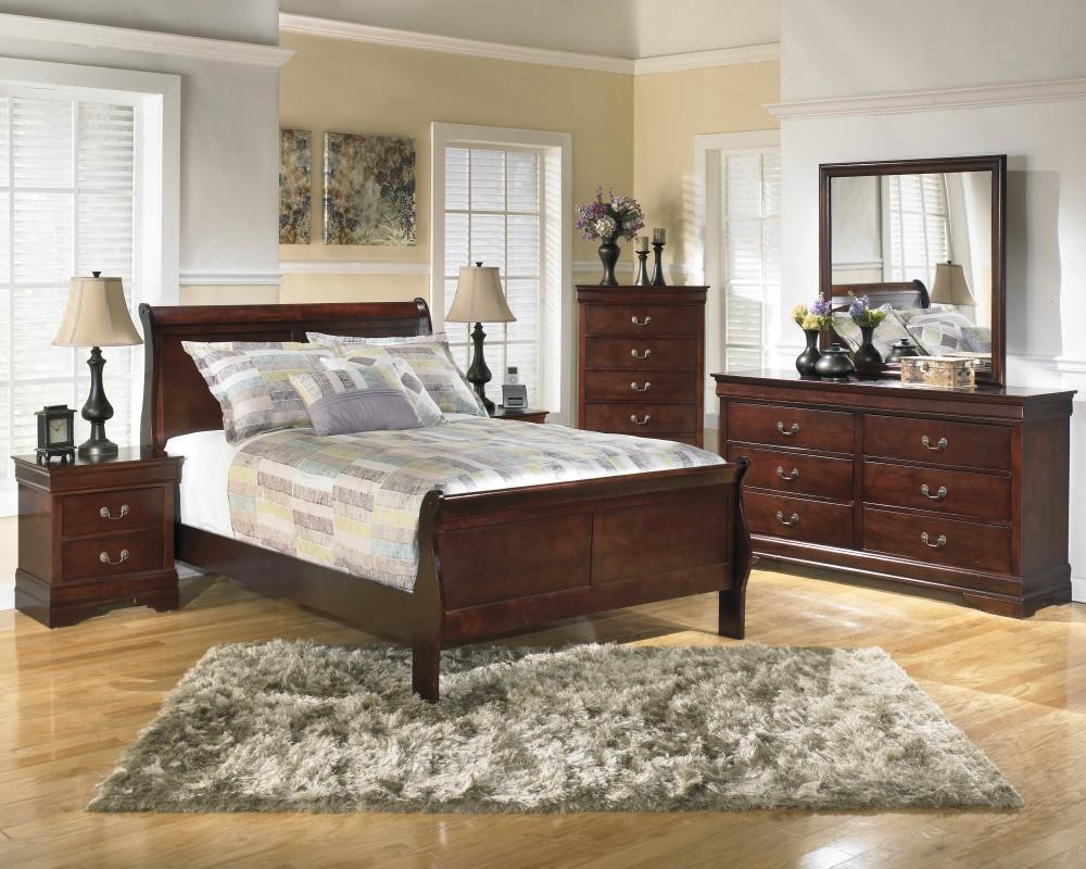 Alisdair 5 Pc. Bedroom Package -Queen Sleigh Bed, Dresser, & Mirror.