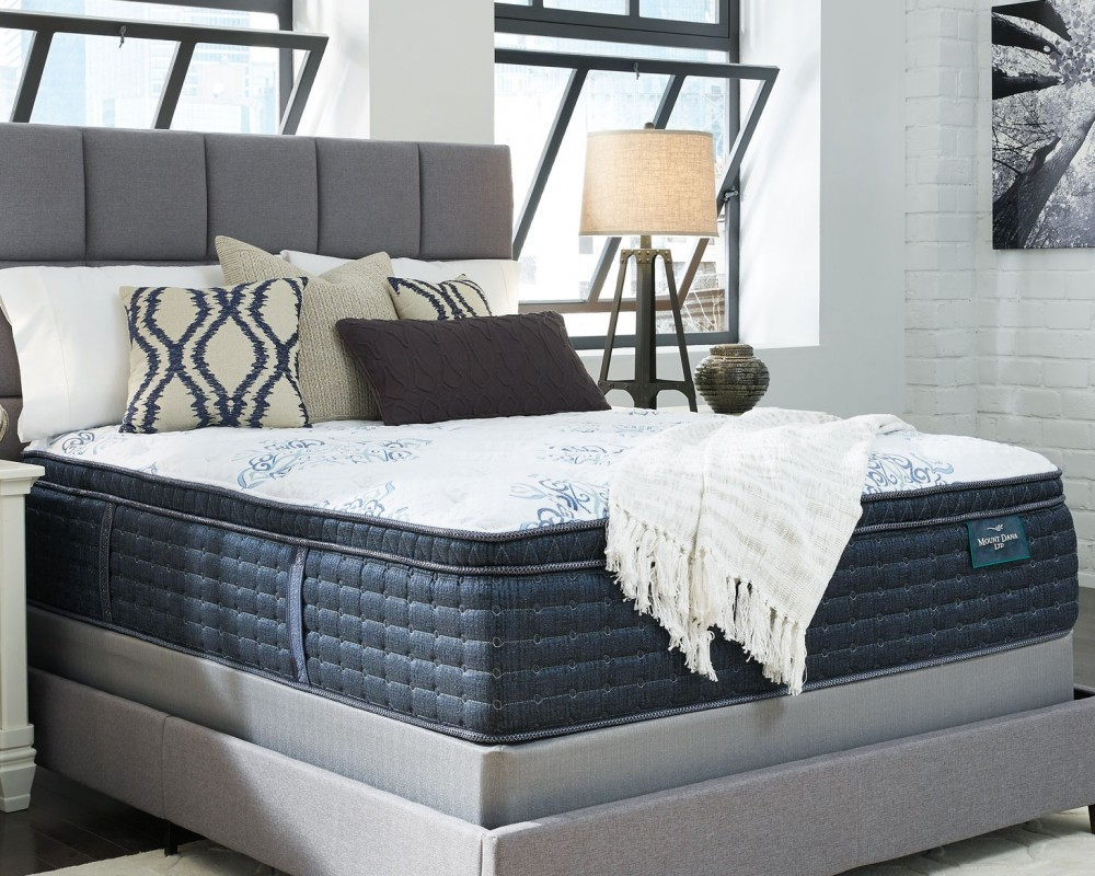 Mt dana euro top white california king mattress for Pruitts bedroom sets
