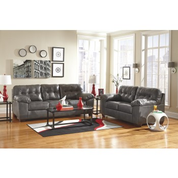 Alliston DuraBlend - Gray - Sofa & Loveseat