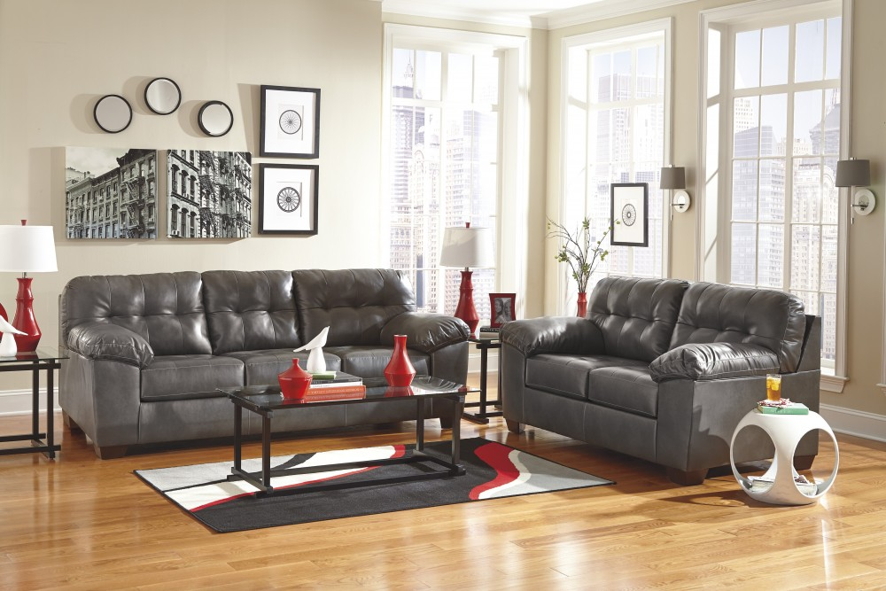 Excellent Alliston Durablend Gray Sofa Loveseat Inzonedesignstudio Interior Chair Design Inzonedesignstudiocom