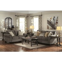 Emelen - Alloy - Sofa & Loveseat