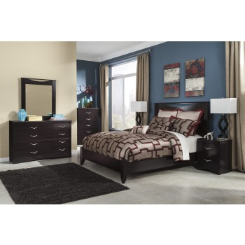 Zanbury 4 Pc Bedroom - Dresser, Mirror & Queen Panel Bed