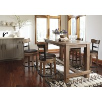Pinnadel Pub Table & 4 Bar Stools