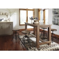 Pinnadel RECT Dining Room Counter Table & 4  Swivel Stools