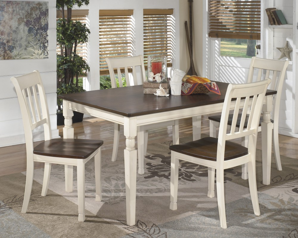 Whitesburg Rectangular Dining Room Table & 4 Side Chairs
