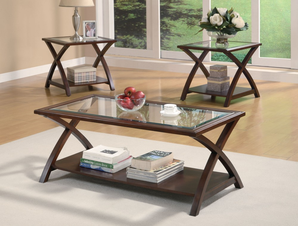 Cappuccino 3pc Occasional Table Set - 701527