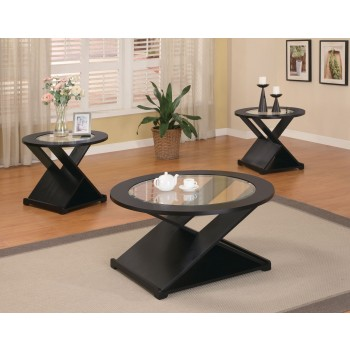 Black X Style 3pc Table Set - 701501