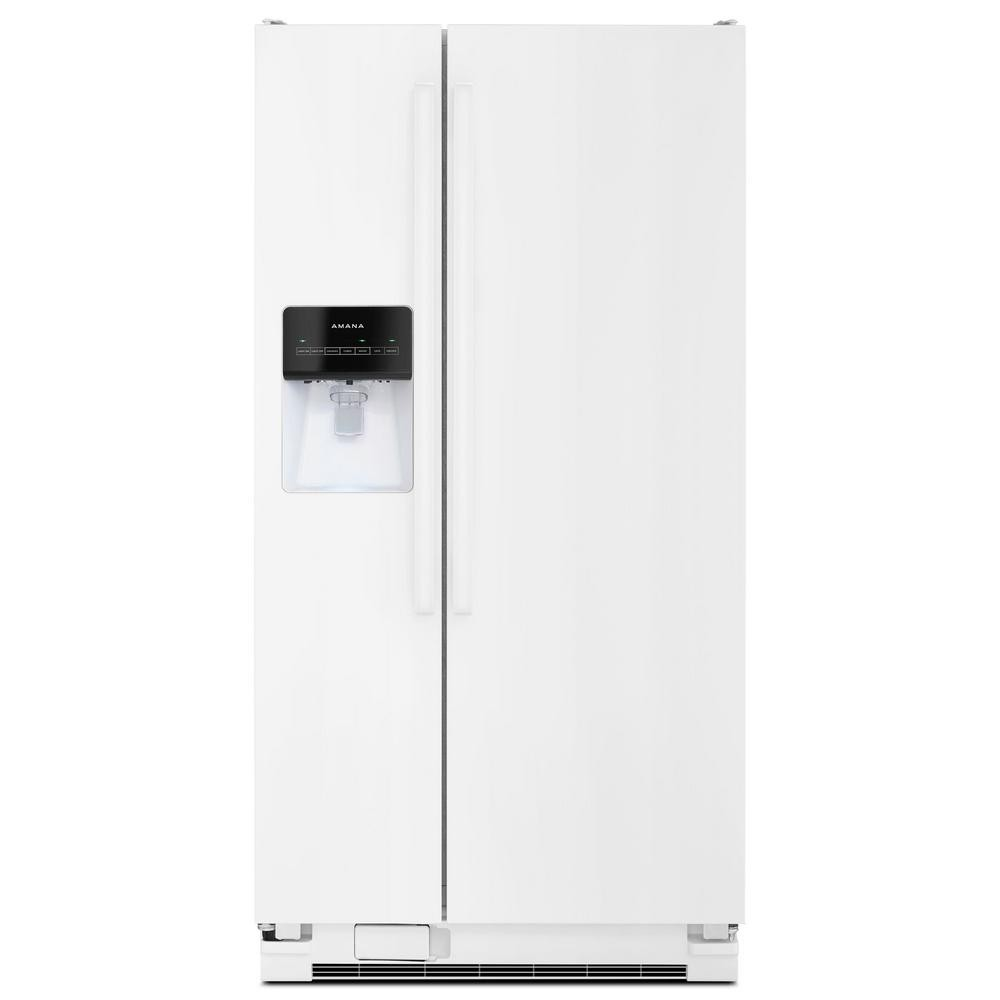 Amana 21.2 cu. ft. Side by Side Refrigerator in White