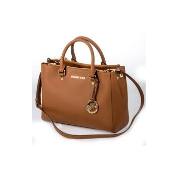 Michael Kors Jet Set Top-Zip Saffiano Leather Tote Bag Luggage