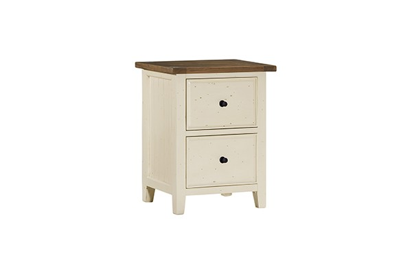Tuscan Retreat(r) Small File Cabinet - Country White With Antique Pine Top - Tuscan Retreat(r) Small File Cabinet - Country White With Antique